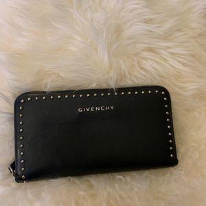 Givenchy studded lamb zippy wallet